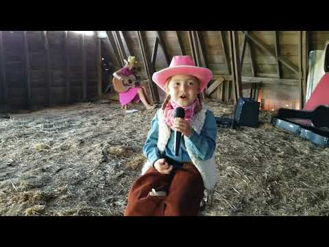 Eden Sings Cowboy's Sweetheart In The Waddle Barn (6yrs Old)
