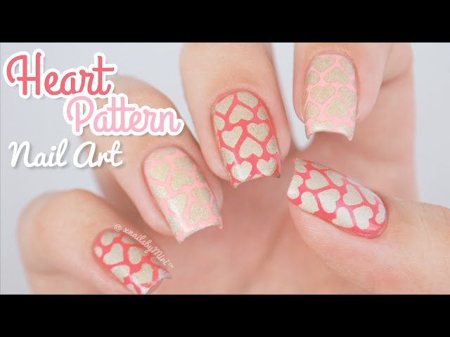Heart Pattern Nail Art || using Heart Stencils from Stick It!