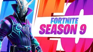 "NEW Fortnite ""SEASON 9"" Themed Thumbnail Template! - (FREE Fortnite GFX Template)"