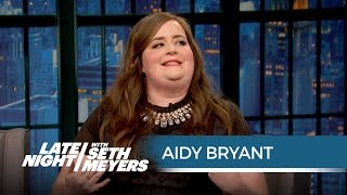 aidy bryants cat café experience late night with seth meyers