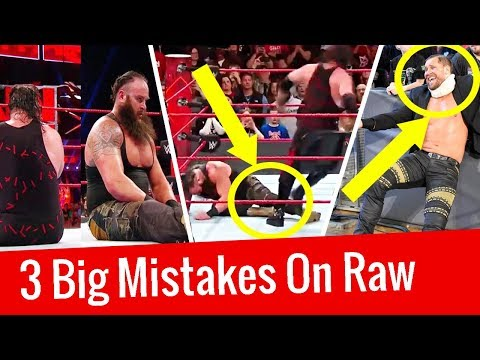 3 Big Mistakes WWE Raw 11 December 2017   WWE Botches, Fails, Slips 2017   WWE Botches 2017