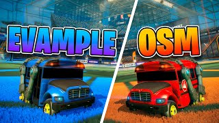 OSM vs Evample FREESTYLE 1V1 (BATTLE BUS)