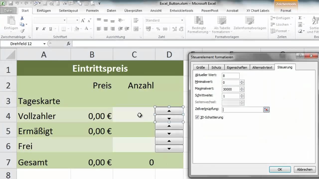 Excel Button Einfügen