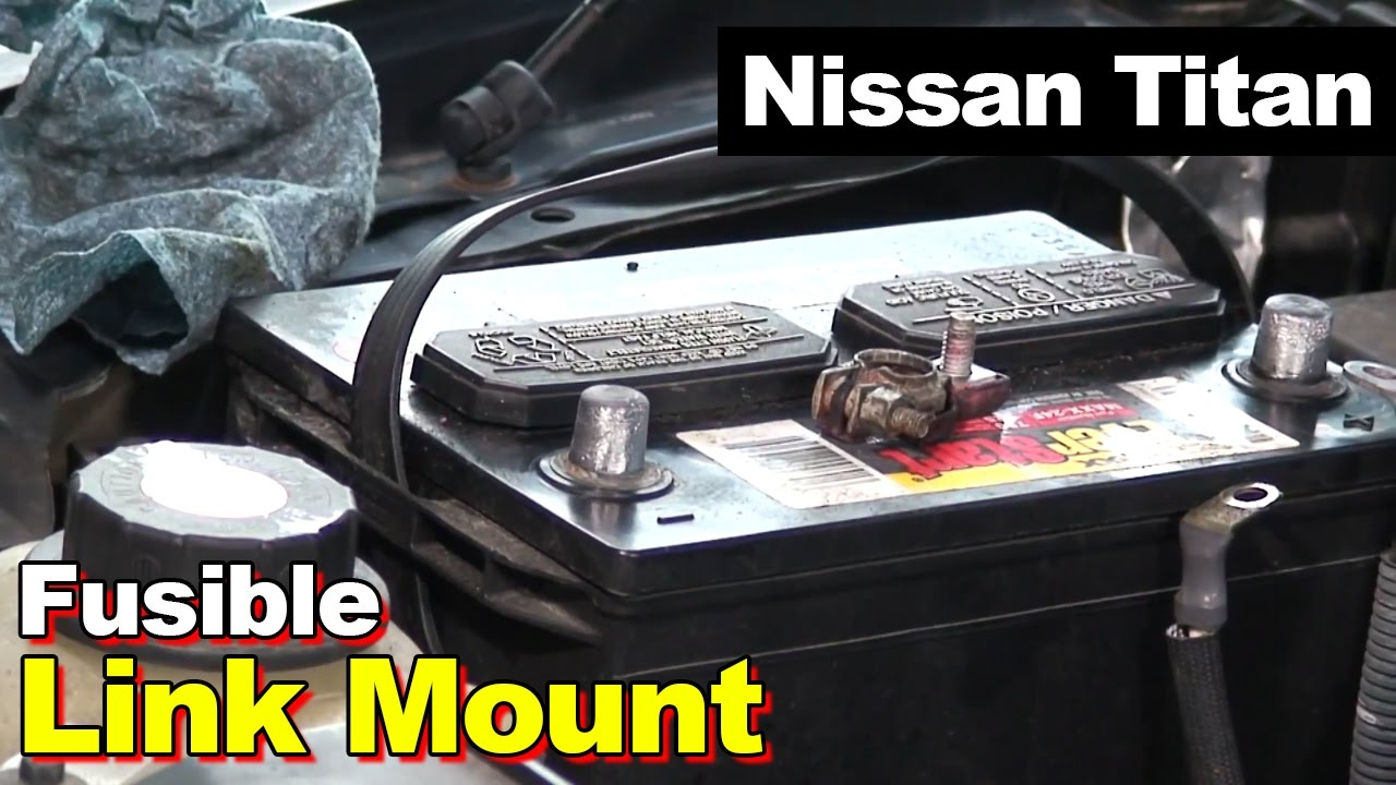 Automotive Fuse Diagram 2004 Nissan Titan Battery Fusible Link Youtube