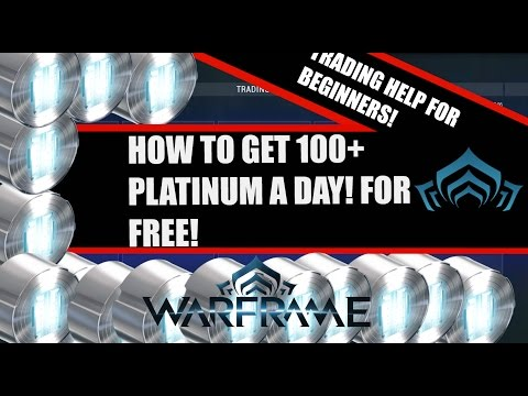how to make platinum free warframe