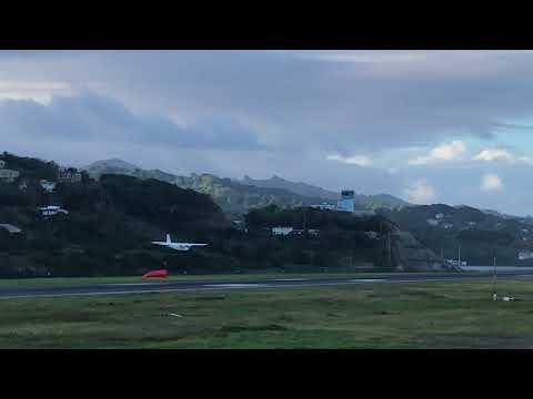 Islander's amazing landing at AIA