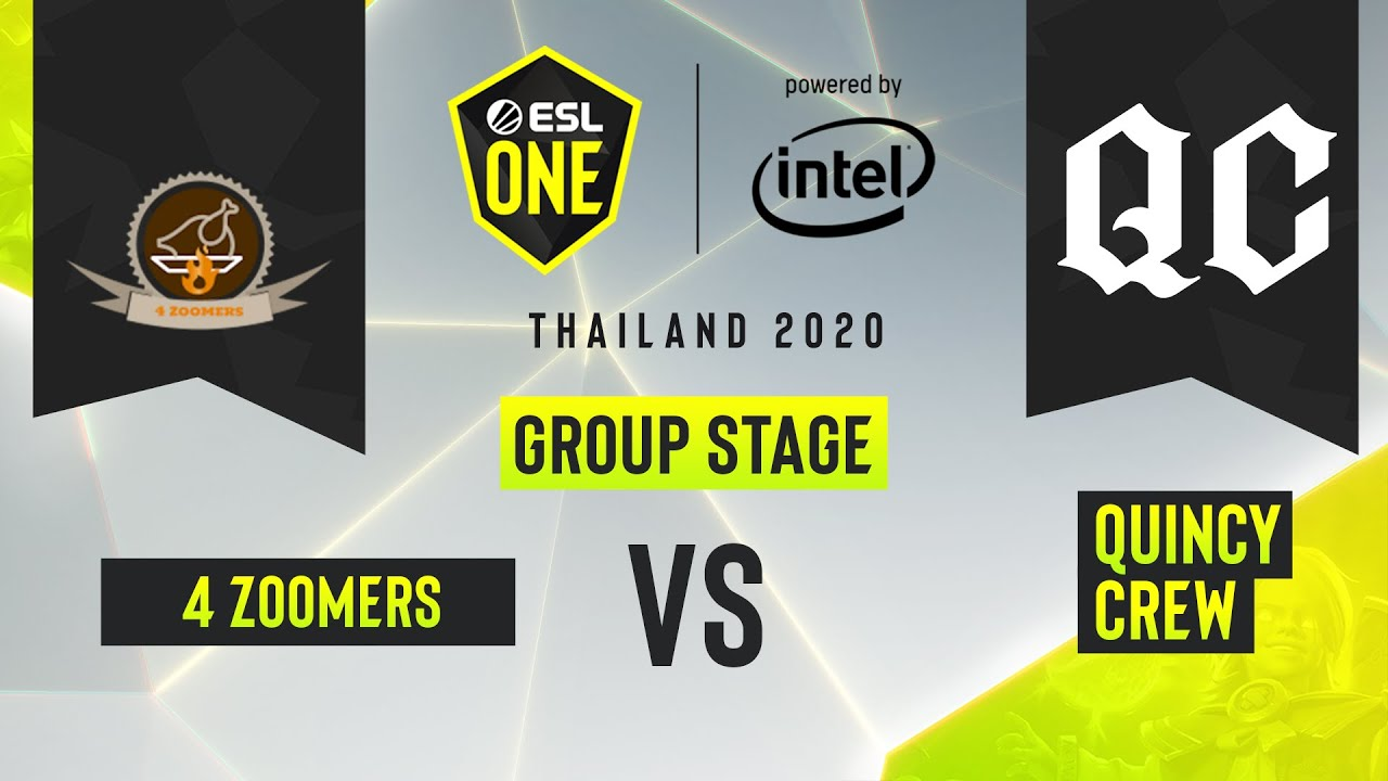 Dota2 - Quincy Crew vs. 4 Zoomers - Game 2 - ESL One Thailand 2020 - Group Stage - AM