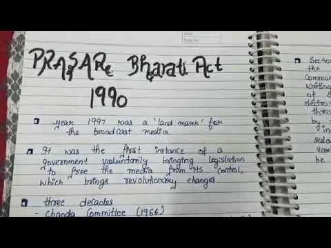 PRASAR BHARATI ACT 1990
