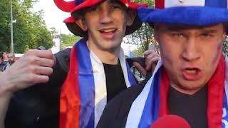 Coupe du monde 2018 ! la joie des supporters à Moscou après le match d'ouverture