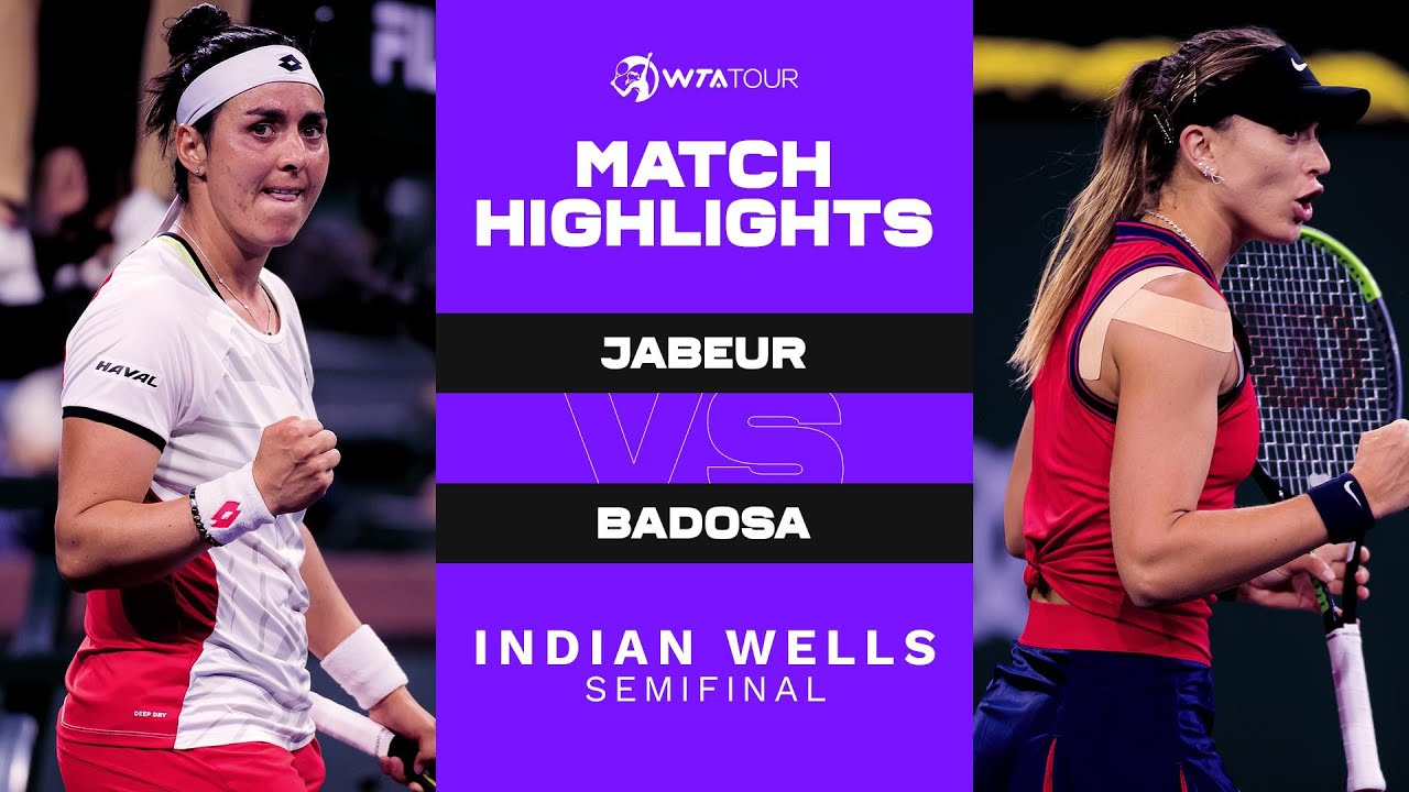 Download Ons Jabeur vs. Paula Badosa | 2021 Indian Wells Semifinal | WTA Match Highlights