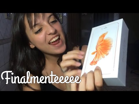 UNBOXING- MEU IPHONE 6S PLUS OURO ROSA