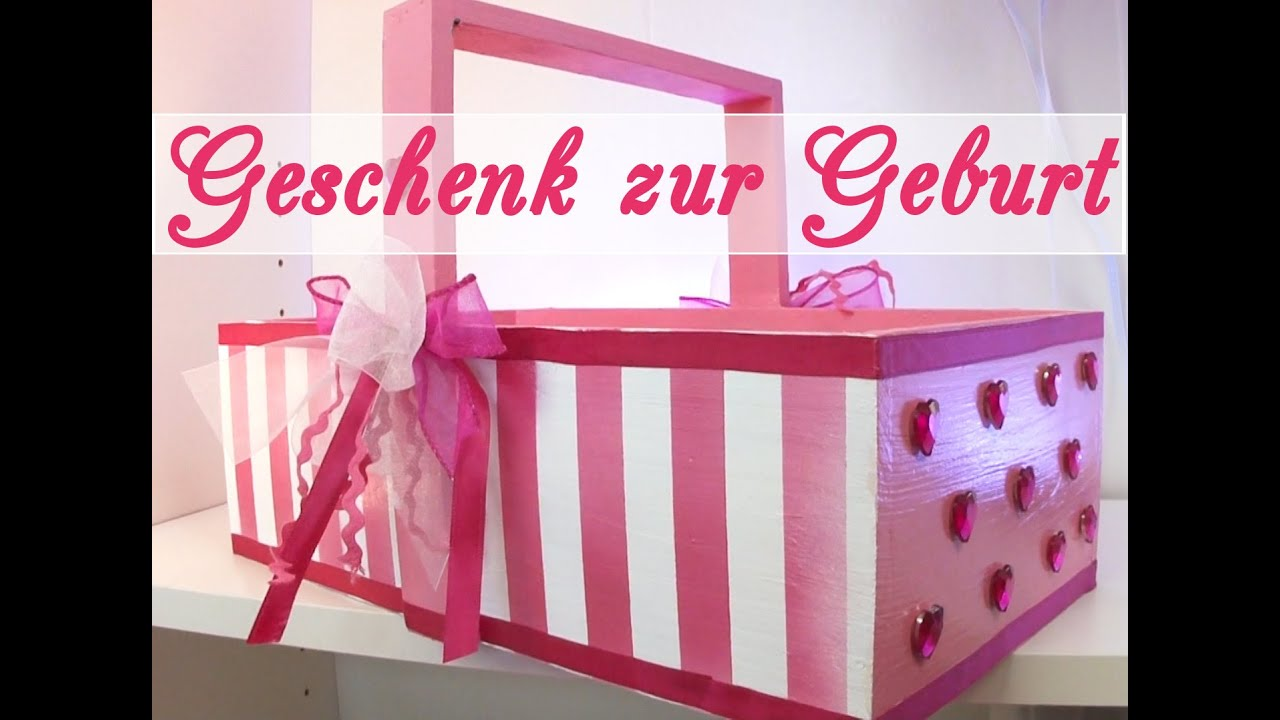 geschenk zur geburt eines m dchens babyk rbchen youtube. Black Bedroom Furniture Sets. Home Design Ideas