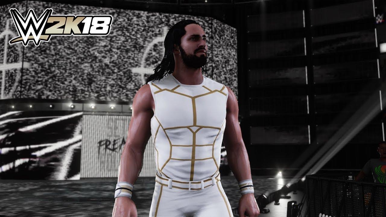 7ffd5b1e5d Seth Rollins WHITE   GOLD 2015 ATTIRE DLC MOD (WWE 2K18) - YouTube
