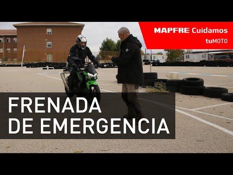 Frenada de emergencia en una motocicleta