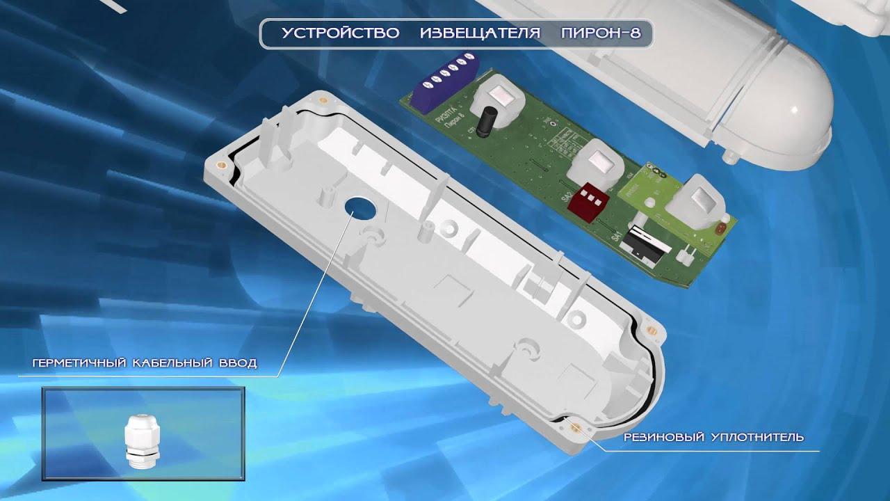 Извещатель охранный объемный оптико-электронный уличный «Пирон-8»