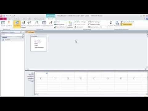 Datenbanken mit Microsoft Access 2 - Datenbank Erstellen: Tabelle, Abfrage, Formulare, Berichte