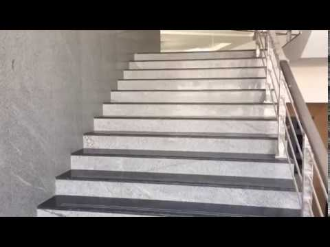 Awesome How Look Indian Granite Staircase Desigs With Two Colors And Wall Dadoing  With Wall Bouder,