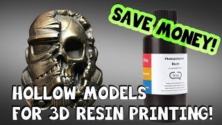How to Hollow Models for 3D Resin Printing in Chitubox!