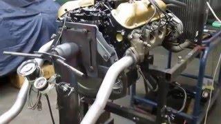 Motorprobelauf/Testrun 289 ci Ford V8 Motor von 1965 by Hammer Performance