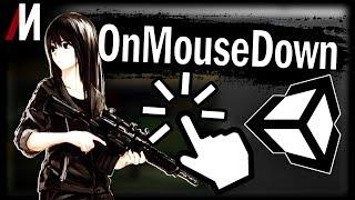 Unity Скриптинг OnMouseDown Нажатие мыши Клик по объекту Управление мышью