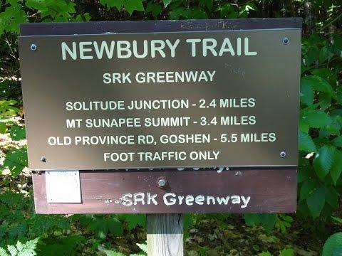 Hiking Newbury Trail and Eagles Nest on Mt Sunapee Overlooking Lake Sunapee