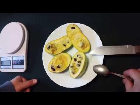 """Вкус плодов """"северного банана""""  - азимины сортов Wells и Sunflower, выращенных в контейнерах."""