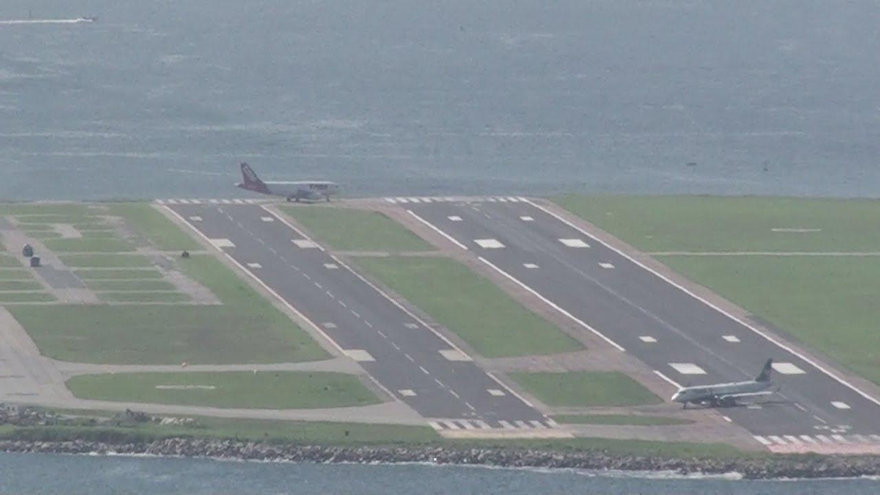 Aeroporto Santos Dumont : Aeroporto santos dumont aviões pousando e decolando perigo