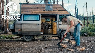 This Budget Micro Caḃin in the Woods Van Conversion will make you Swoon