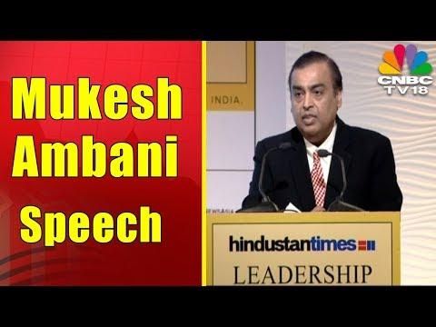 Mukesh Ambani on India's Future | HT Leadership Summit 2017 | CNBC TV18