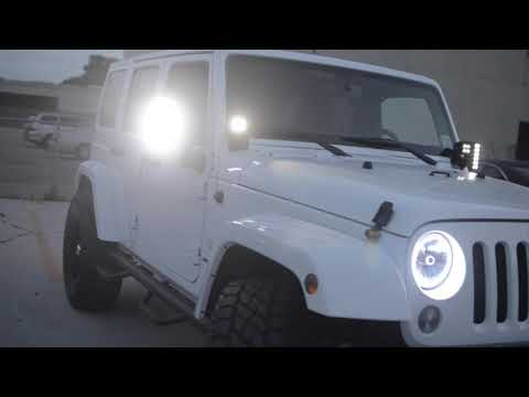 Oracle Jeep Wrangler Sahara With White Leds Youtube