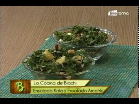 Ensalada Kale y ensalada Arcoíris