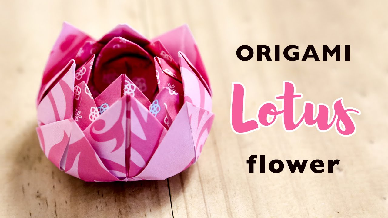 Easy origami lotus flower tutorial instructions diy easy origami lotus flower tutorial instructions diy youtube mightylinksfo