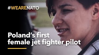 Poland's first female MiG-29 fighter pilot - #WeAreNATO thumbnail