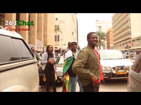 Zimbabweans go on the streets in solidarity with the army #263Chat