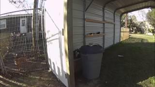 Part 2 - How To Enclose A Metal Carport - Back Door And Setting Posts
