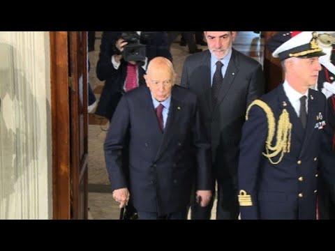 Italian ex-president meets Mattarella for talks