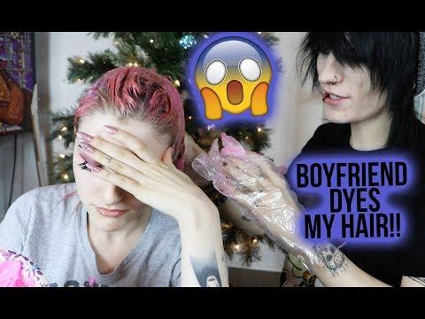 BOYFRIEND DYES MY HAIR | Alex Dorame & Johnnie Guilbert