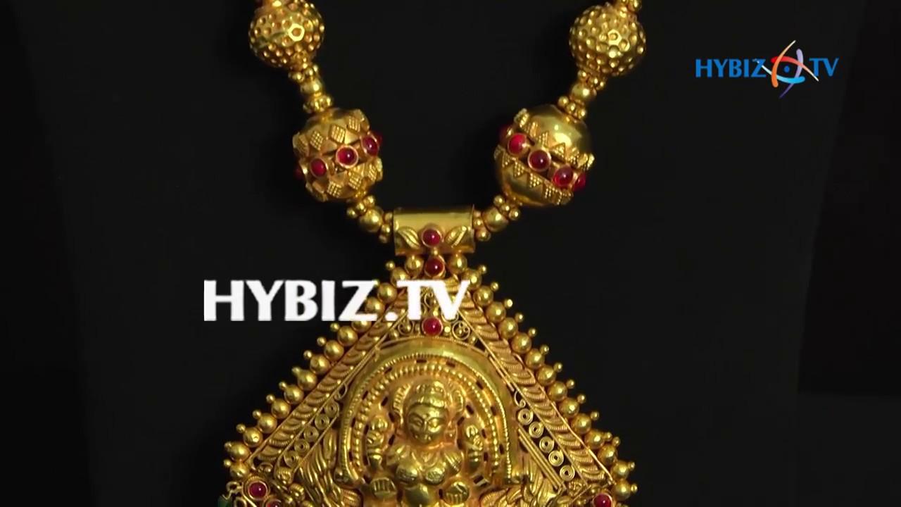 Temple Designed Gold Haram   Malabar Gold and Diamonds - YouTube