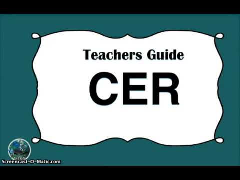 CER (claim, evidence, reasoning) Digital version How to guide