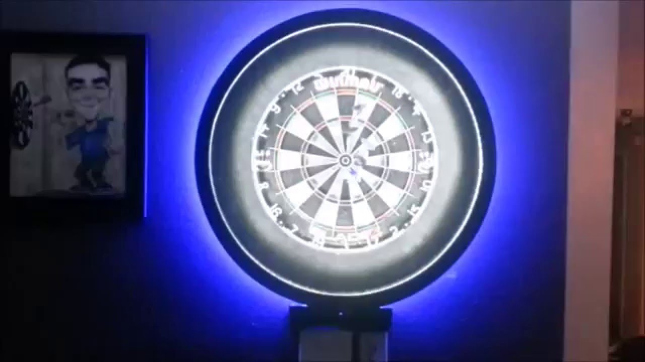 Dart light youtube for Diy dartboard lighting