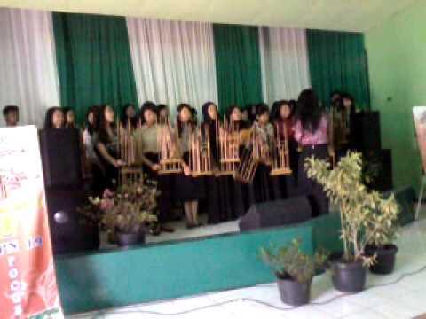 Angklung PANDA + Angklung SMPN 19 Bandung - Laskar pelangi & Mojang Priangan