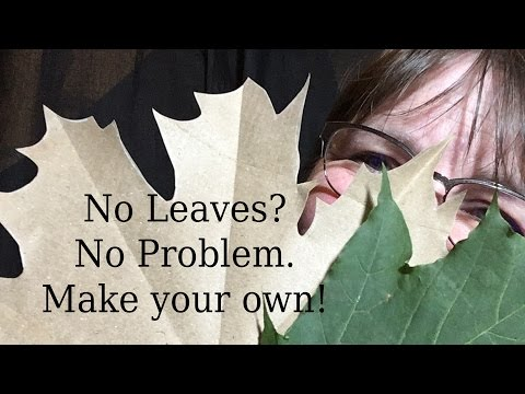 How to DIY Fall Paper Leaves #LoveAutumArt