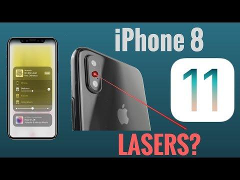 iPhone 8 3D LASERS + iOS 11 Public Beta 2