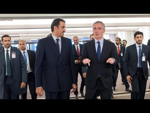 Emir of Qatar, Sheikh Tamim Bin Hamad Al-Thani, visits NATO Headquarters in Brussels