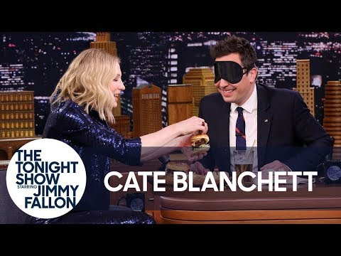 Cate Blanchett Gives Jimmy a Blind Burger Taste Test