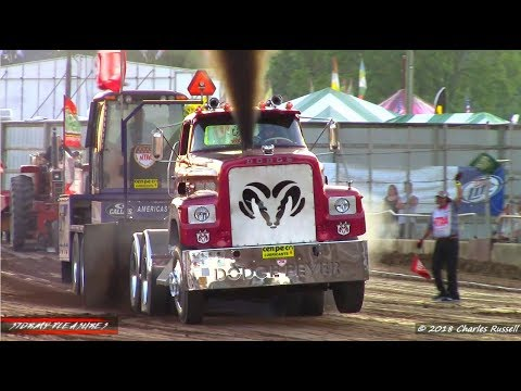 Tractor/Semi/Truck Pulls! 2018 Ionia Free Fair Pullsation NTPA Session 2