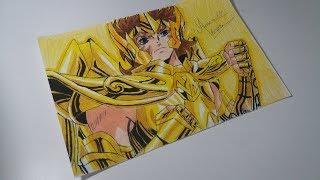 Speed Drawing aiolia de leão(Saint Seiya)