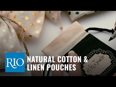 Natural Cotton and Linen Pouches