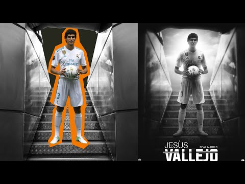 Photoshop Tutorial- Blending Images | Jesus Vallejo | Real Madrid | Football Wallpaper |