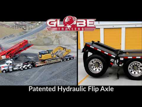 Globe Trailers: Patented Hydraulic Flip Axle